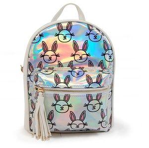 """Glitter """"Hopper """" Bunny Mini Back Pack."""